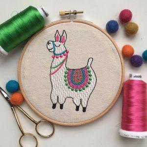 Llama machine embroidery digital design