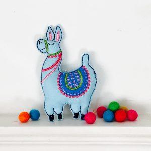 In the hoop sassy llama felt stuffie