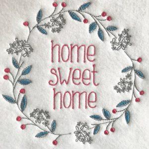 "Home Sweet home Berry wreath 6"" x 6"""