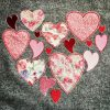 Scrappy hearts applique and embroidery design