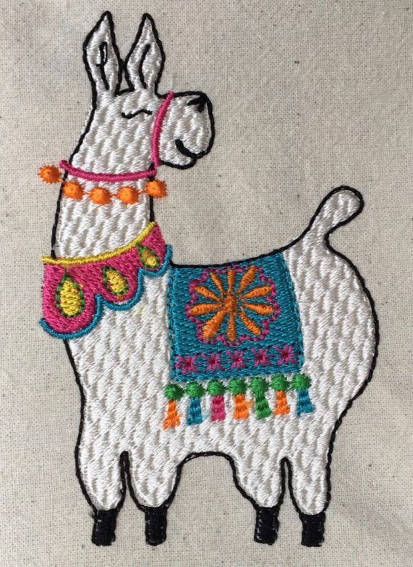 Detail of llama embroidery
