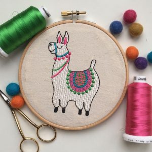 Llama machine embroidery digital design