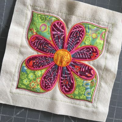 A perfectly trimmed quilt block