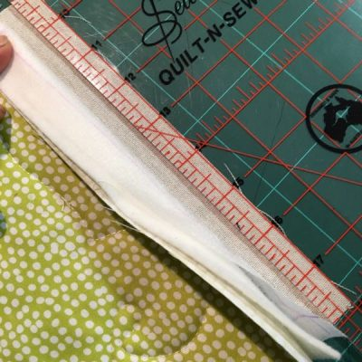 Marking seam allowance on join as you go quilt block