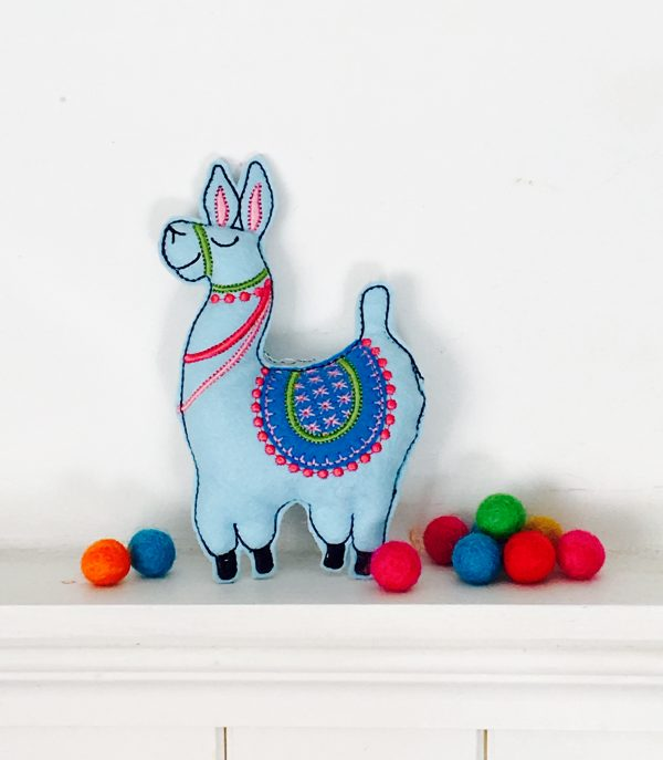 In the hoop sassy llama felt stuffie