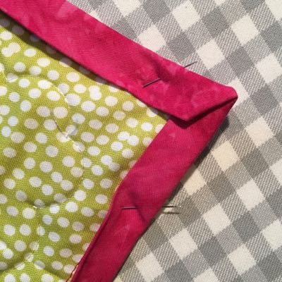 Fold over at the corners