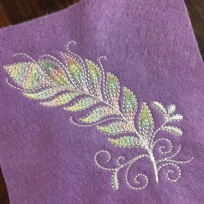 feather digital embroidery design