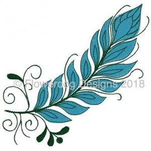 feather embroidery digital download