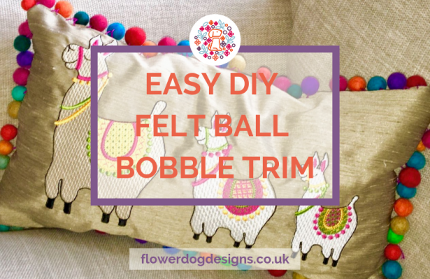 easy DIY felt ball bobble trim