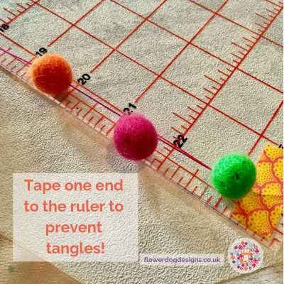 Tips for making bobble trim from felt balls