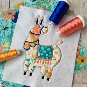 Applique LLama machine embroidery applique design