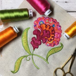 applique flower digital embroidery design