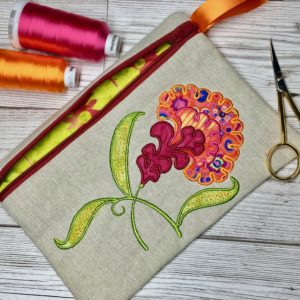 in the hoop zipper bag 6x8