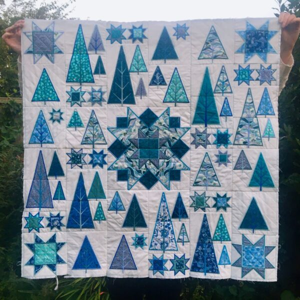 Starry Night in the hoop quilt